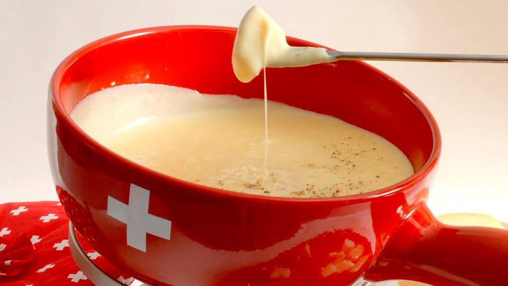 Zwitserse traditionele kaasfondue