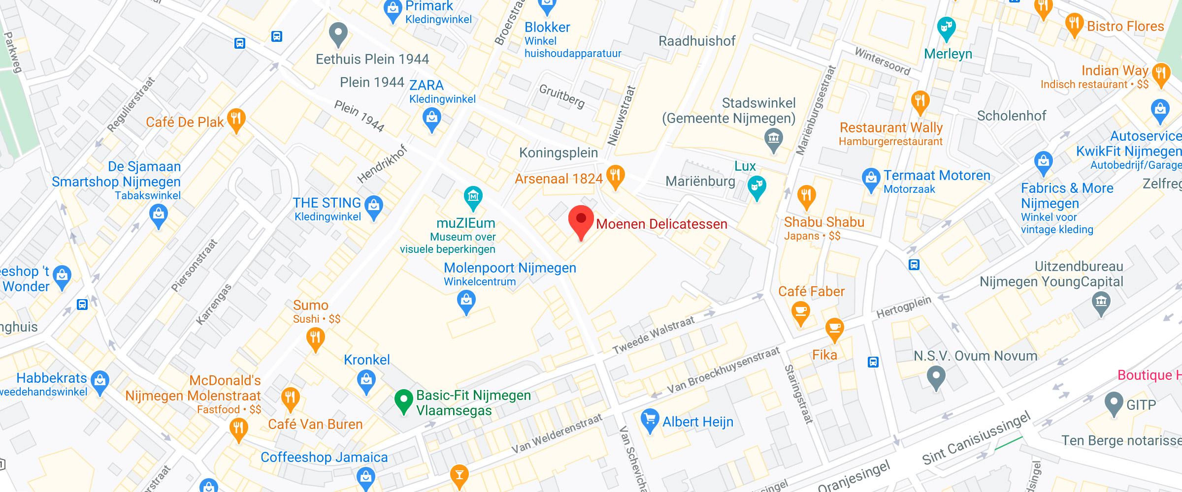 Moenen Delicatessen Google Maps